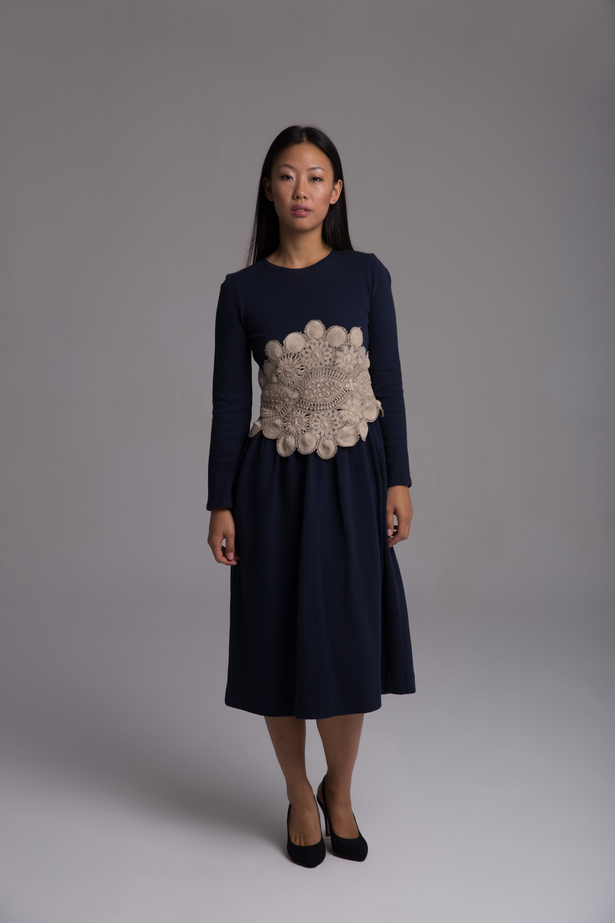 Long-Sleeved Blue Dress Mammisi